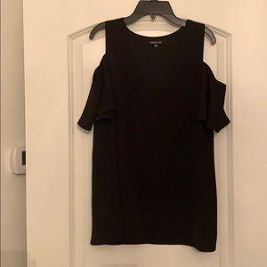Sugar Lips black cold shoulder blouse size M